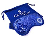 Origin Cure Hot/Cold Full Coverage Therapeutic Gel Beads Eye Mask -...