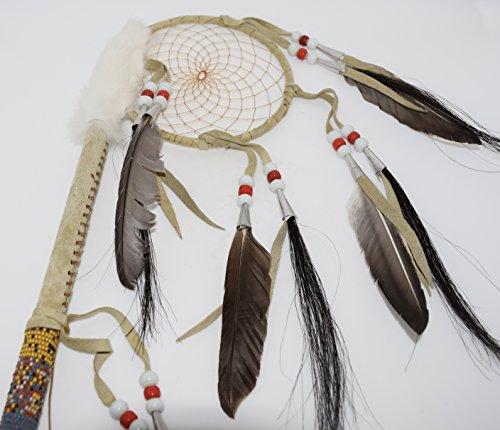 Genuine Handmade Beaded Dreamcatcher Dance Stick Wall Hanging by Kachina Country USA (Image #1)