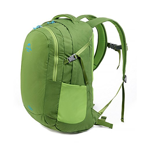 Hysenm Fashionable Unisex 35L Waterproof Outdoor Hiking Climbing Travel Computer Backpack Casual Daypack Schoolbag, Olive