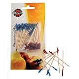 Norpro 189 50-Pack Bamboo Cocktail Picks, Blue/Red