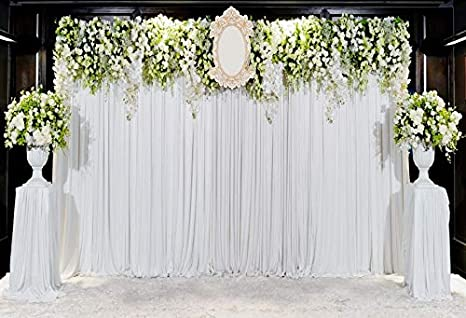 Amazon leowefowa curtains arch for wedding backdrop 10x7ft leowefowa curtains arch for wedding backdrop 10x7ft vinyl photography backgroud marriage decoration white flower bouquet romantic mightylinksfo
