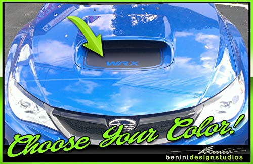 - 2010 and up Custom Hood Scoop Blackout Stripes Decals 3 Compatible with Impreza WRX STI (Carbon Fiber)