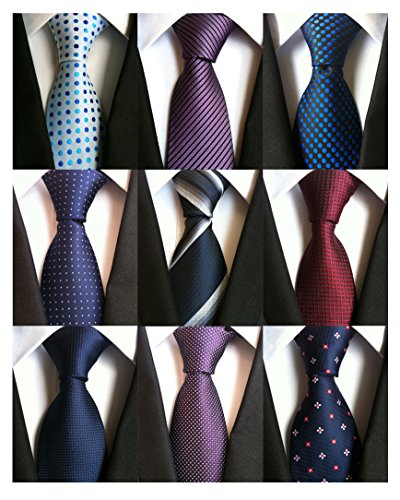 AVANTMEN+9+PCS+Classic+Men%E2%80%99s+Neckties+Woven+Jacquard+Neck+Ties+Set+%289+Pack-style+B%29