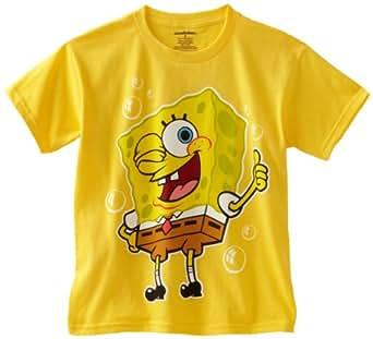 Nickelodeon Big Boys' SpongeBob Thumbs Up Tee, Daisy, Large