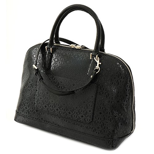 GUESS TASCHE - Ophelia - Large Dome Satchel - Black