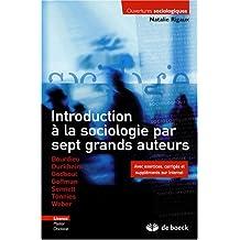 Intro. sociologie 7 grands...