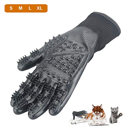 CICINY Pet Grooming Gloves for Cats and Dogs Bathing Massage, Horse Hair Removal Shedding Glove with Gentle Cleaning Brushes Kits (XL) by CICINY