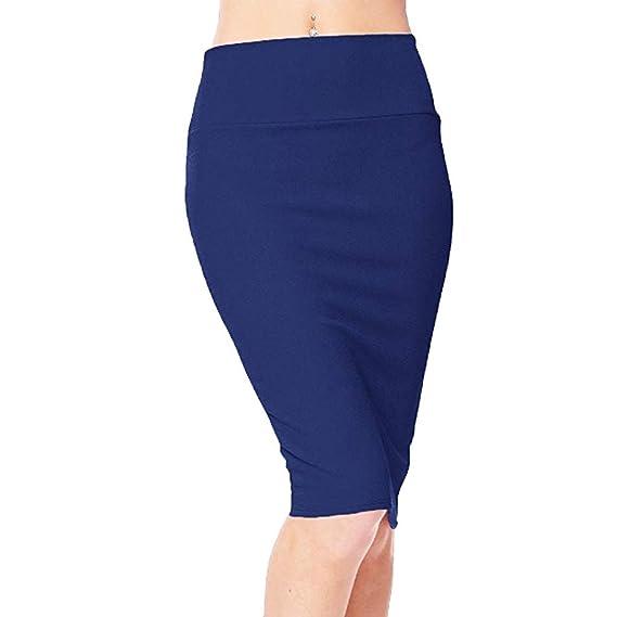 QIjinlook 💖Falda Tubo Mujer Sexy/Faldas Oficina💖, Faldas Rectas ...