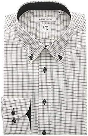 (ザ・スーツカンパニー) COOL MAX/ボタンダウンカラードレスシャツ チェック 〔EC・FIT〕 ホワイト×ブラック