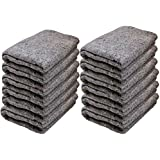 Cheap Cheap Moving Boxes 72 x 54 Inches Textile Moving Blankets, Pack of 12, Grey (Txt10103)