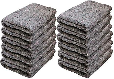 Cheap baratos cajas de cartón – textil Moving mantas (12 unidades) – gris –