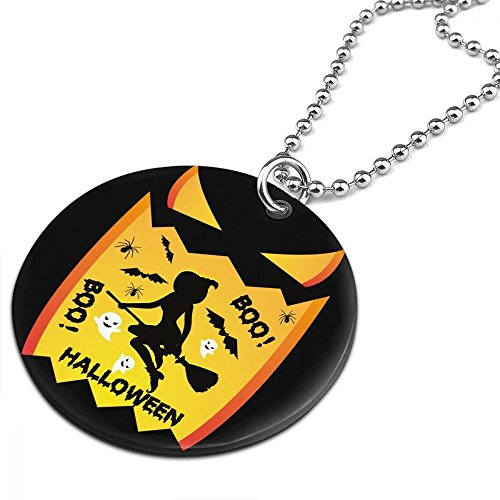 Witches LOVELY Vintage SALLY Halloween BOO Women Men Jewelry Chain Necklace With Round Pendant