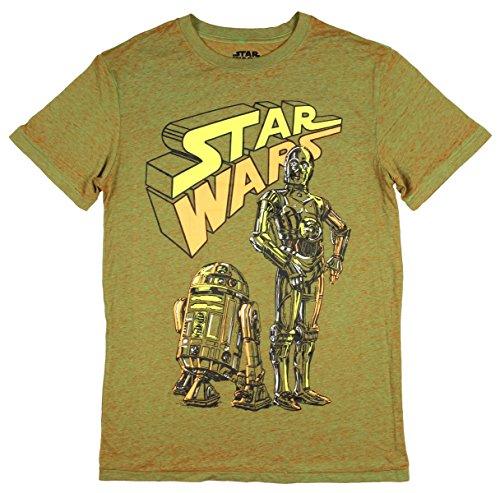 Star Wars Team Bots Droids R2-D2 C-3PO Graphic T-Shirt - 2XL -