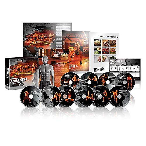 ZOMLAN Insanity Exercise Videos, Fast and Furious Complete DVD Workout with Nutrition Guide (Insanity)