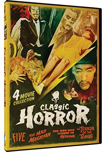 Classic Horror 4 Movie Pack: Five, The Mad Magician, Man Who Turned to Stone, Terror of the Tongs