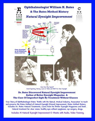 Ophthalmologist William H. Bates & The Bates Method History - Natural Eyesight Improvement: with 14 E-Books, Better Eyesight - Magazine Eyeglasses