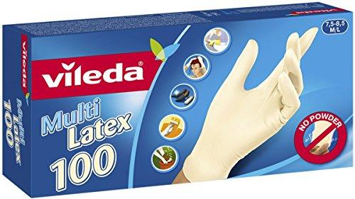 Vileda Multi Latex Einmalhandschuhe ungepudert, Größe M/L