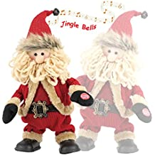 Amazlab Final Clearance! Animated Christmas Singing and Dancing Santa Claus for Parties, Jolly Santa Plush, Electric Toys with Battery Powered for Christmas Gifts or Birthday Presents, Tall 11.8 inch
