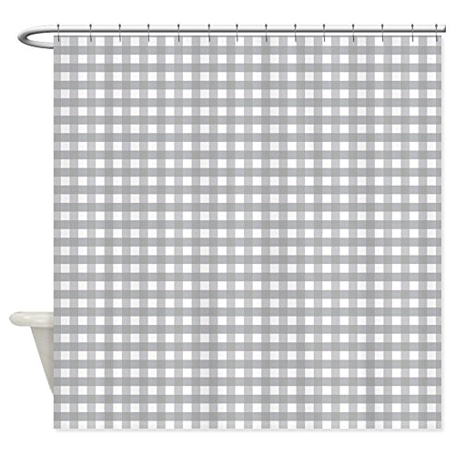 Gingham Shower Curtains - OneHoney Grey Gingham Pattern,Waterproof and Mildewproof Polyester Fabric Bath Curtain 60x72inch