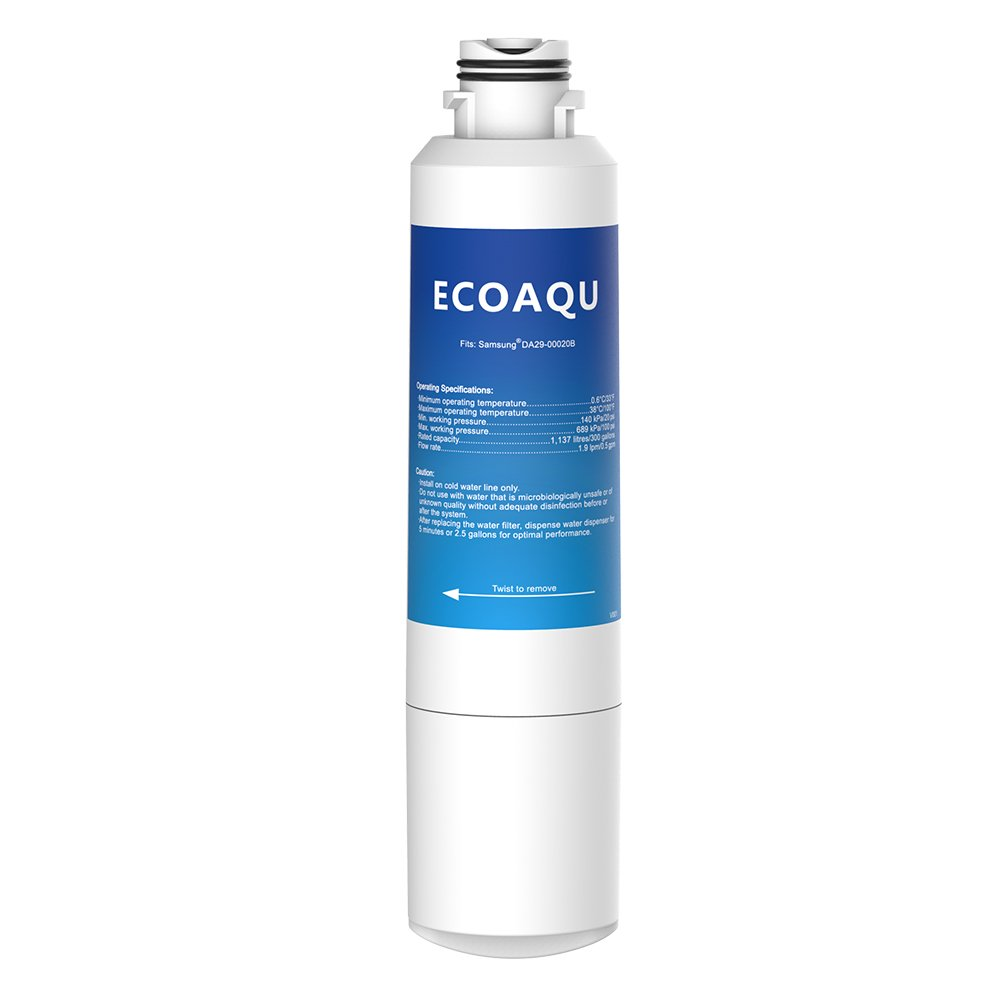 EcoAqua EFF-6027A Replacement for Samsung DA29-00020B, HAF-CIN/EXP, 46-9101 Refrigerator Water Filter