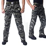 CRYSULLY Young Mens Pants Spring Relaxed-fit Cotton Woodland Army Cargo Pant Utility Combat Work Pants Camo