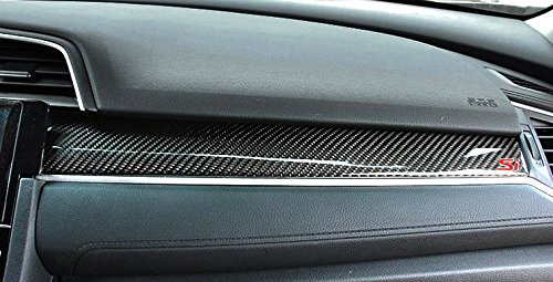 Amazon.com : Brand New Real Carbon Fiber Center Console Moulding Cover 3pcs For Honda Civic Si 2016-2018 : Everything Else