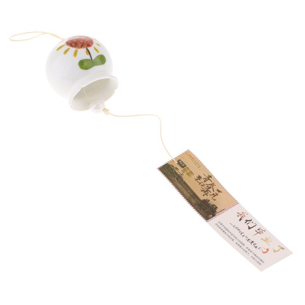 D DOLITY Japanische Art Traditionelle Hängende Windspiele Klangspiel Glasglocke Garten Dekor - # 1 a