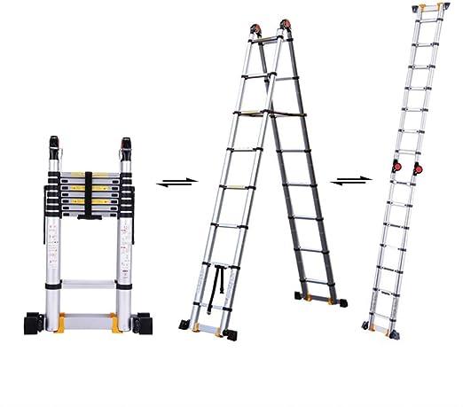 HLL Escalera, 2,9 M / 9.5Ft aluminio telescópica escalera, Multipropósito