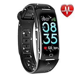 KARSEEN Fitness Tracker Color Screen, Heart Rate Monitor Wat...