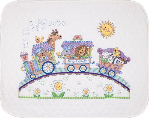 (Brand New Baby Hugs Baby Express Quilt Stamped Cross Stitch Kit-43
