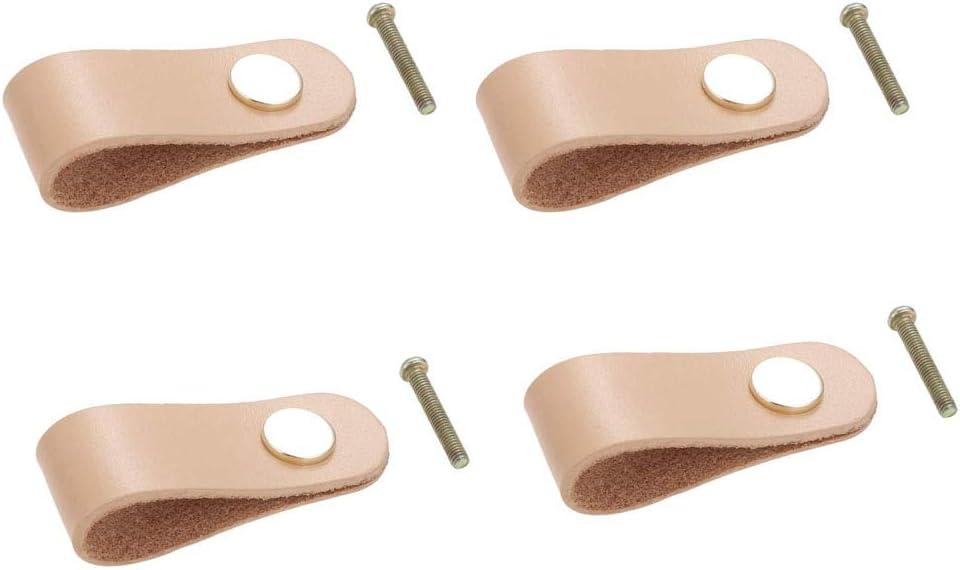 eine sehr gute Wohnkultur Schrankgriff Schubladengriff T/ürgriffe Schublade Schrauben sind im Lieferumfang enthalten Kreativ Leder Behandeln f/ür Schrankt/ür 4 St/ück Leder-M/öbelkn/öpfe