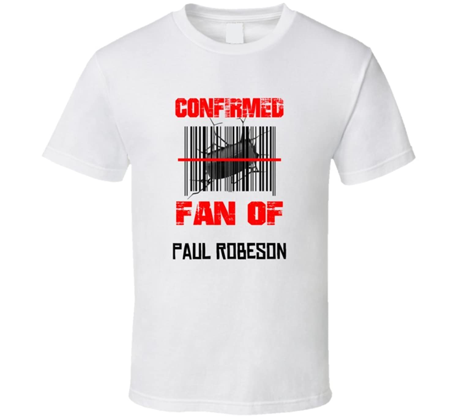 Paul Robeson NHL Scanned Barcode Fan T shirt S White