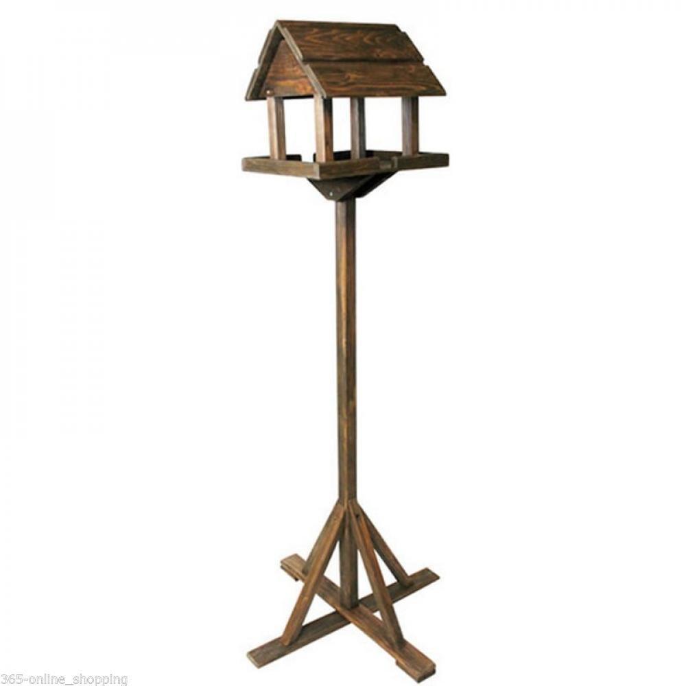 Mangeoire à oiseaux sur table avec pied, Bois de qualité Crystalbella