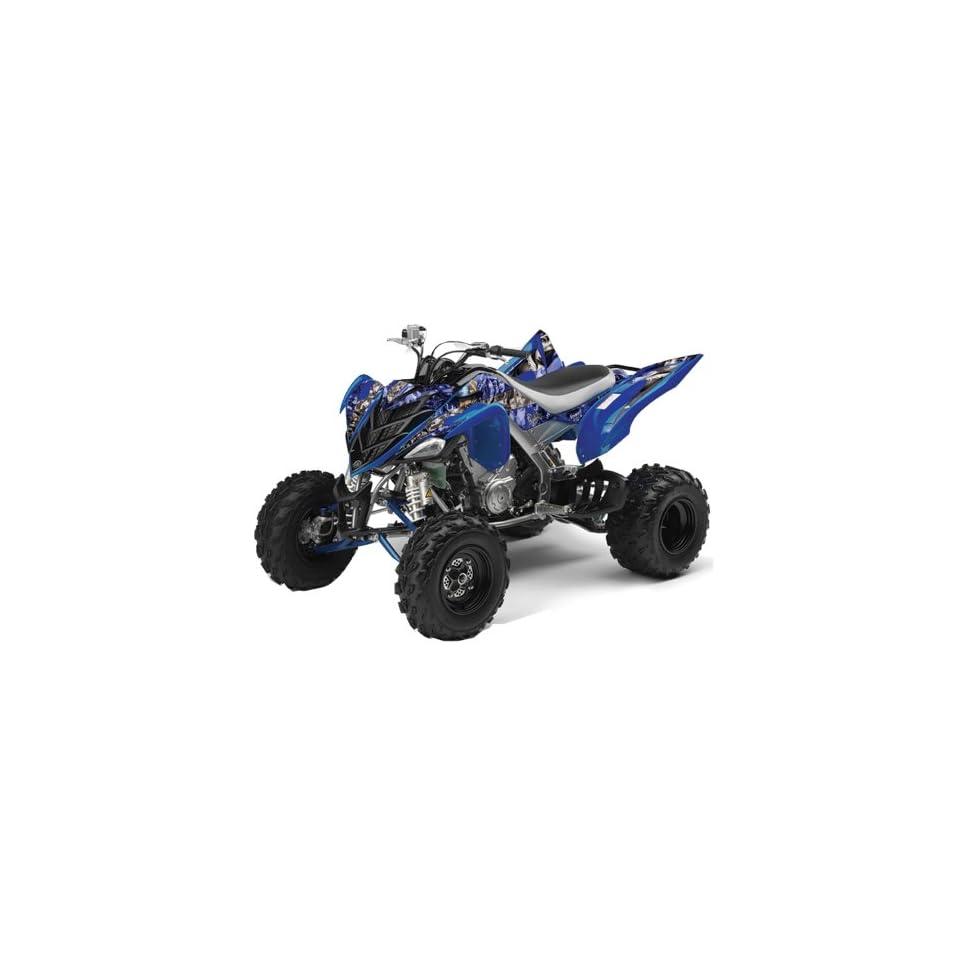AMR Racing Yamaha Raptor 700 ATV Quad Graphic Kit   Madhatter Blue, Black