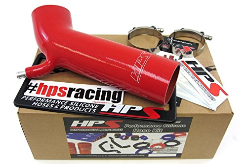 HPS 57-1232-RED Red Silicone Air Intake Hose (Post MAF Tube)