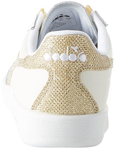 Elite Diadora Wn L Bianco Oro Sneaker Donna Bianco B gSSwq5v