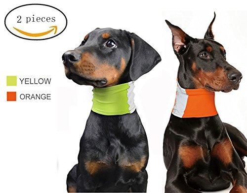 - Morezi Reflecting Dog Scarf Bandana Safety Neon Pet Neck Gaiter Fluorescence Dog Collar