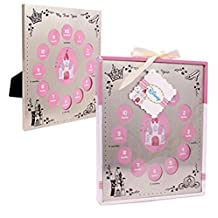 Disney Baby Winnie the Pooh & friends or Disney Princess ''My first year' Picture Frame For Boys or Girls (PINK DISNEY PRINCESS)