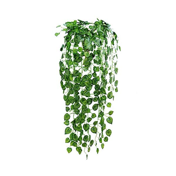 83-Feet-12-Strands-Artificial-Flowers-Greenery-Fake-Hanging-Vine-Plants-Leaf-Garland-Hanging-for-Wedding-Party-Garden-Outdoor-Office-Wall-Decoration-Watermelon-Leaves
