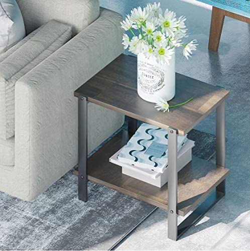 ZINUS Brock 21 Inch Solid Wood Side Table / End Table / Easy Assembly