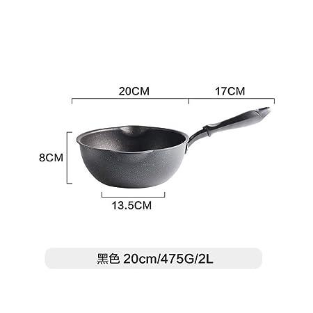 Maifan stone antiadherente wok cocina casera negro sin tapa ...
