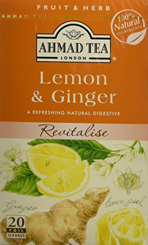 Ahmad Tea Tea Infusion, Lemon & Ginger, 40G, 20 Count