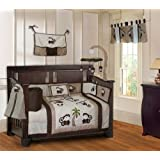 BabyFad Monkey 10 Piece Baby Crib Bedding Set
