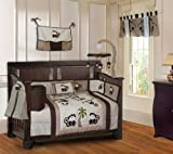 BabyFad Monkey 10 Piece Baby Crib Bedding Set