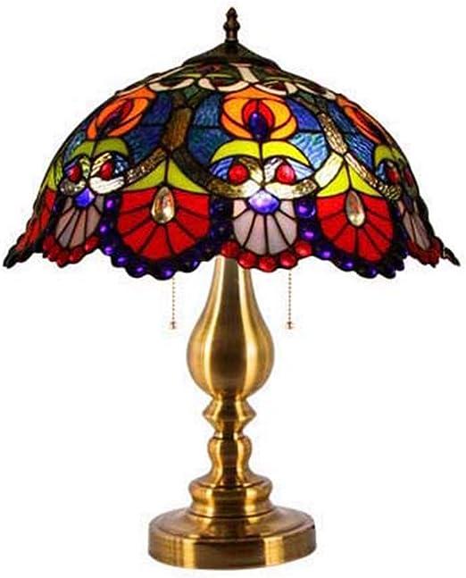 BDHBB Lámpara de Mesa Estilo Tiffany, Pantallas de lámparas de ...