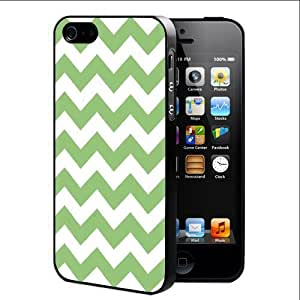 Green and White Chevron Pattern (iPhone 4/4s) Rubber Silicone TPU Cell Phone Case