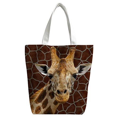 Hobo Giraffe (SXCHEN Custom Women Canvas Bags Shoulder Bag Handbag Lunch Bag Camouflage Giraffe Spot Animal)