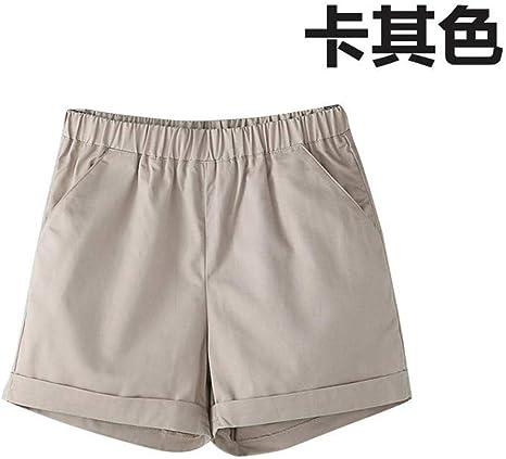 Pantalones Cortos De Mujer,Hembra De Color Caqui Plus Size ...