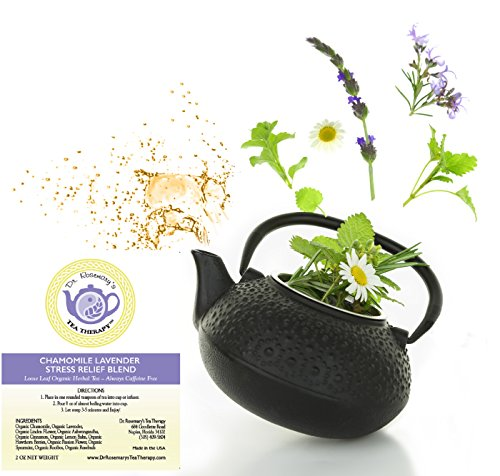 photo Wallpaper of Dr. Rosemary's Tea Therapy-Chamomile Lavender Stress Relief Blend   Loose Leaf Organic Herbal Tea By-