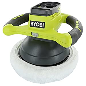 Ryobi P435 One+ 18V Lithium Ion 10 Inch 2500 RPM Cordless Orbital Buffer / Polisher with 2 Bonnets (Battery Not Included, Power Tool Only)
